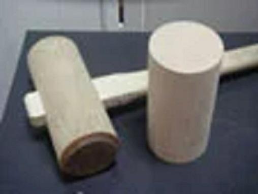 剣先(けんさき)用抜き 木槌(きづち) 打ち込み用円筒木 抜き型の破損を防ぎます。