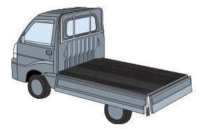 軽トラ荷台ゴムマット