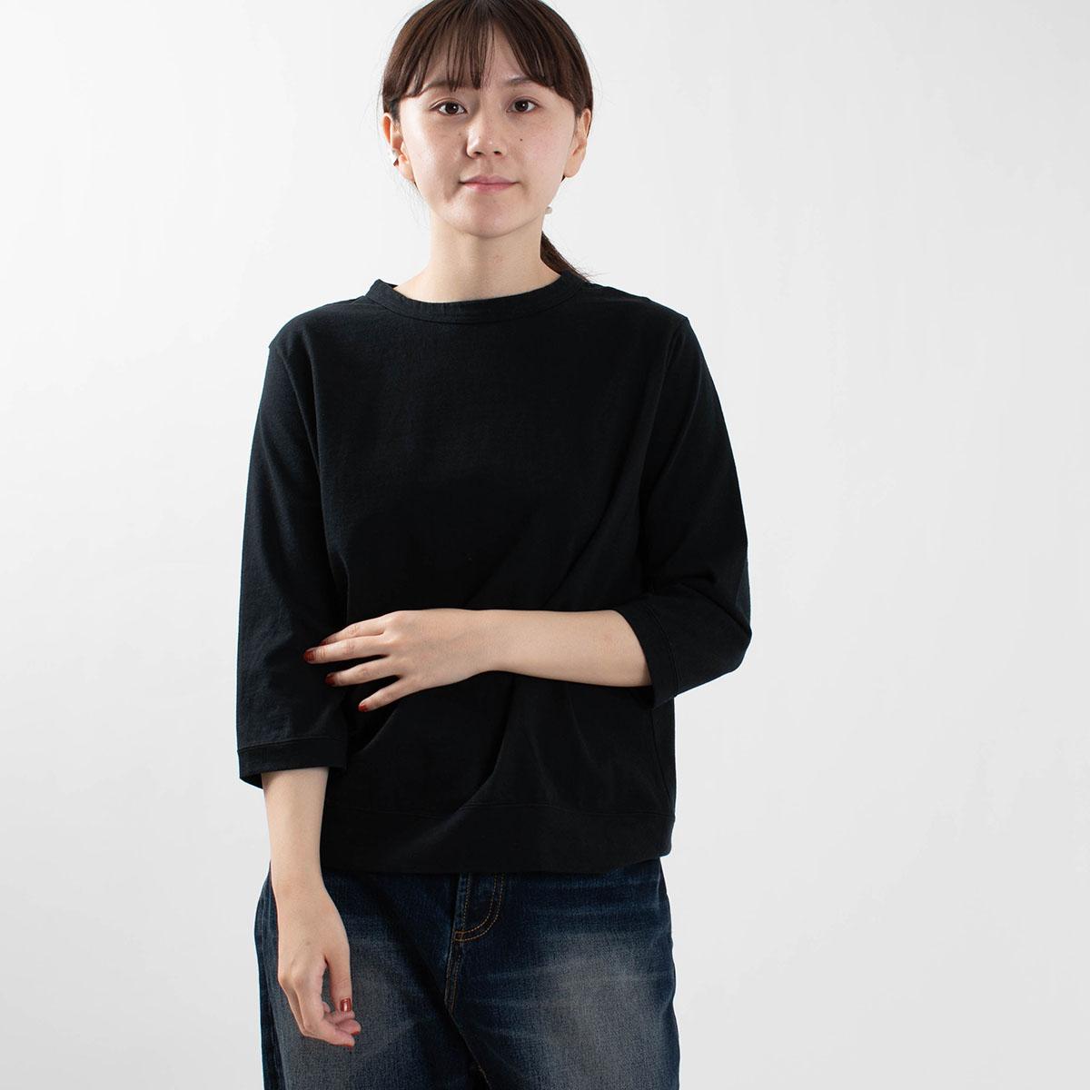 DANA FANEUIL ムラ糸天竺7分袖ワイドTシャツ