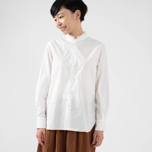 SO フリル衿シャツ