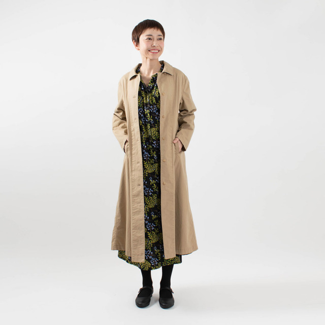 CALINER ステンカラーコートジャケット
