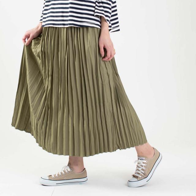 LILASIC ワッシャープリーツスカート