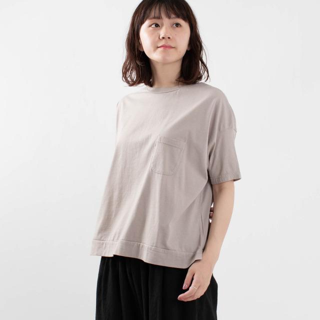 FIRST フライス編みポケット付きワイドTシャツ