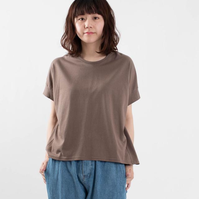 FIRST フライス編みUネックTシャツ