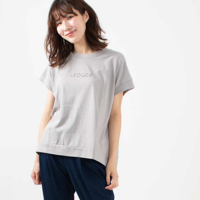 "BLUE LAKE MARKET ロゴTシャツ""LEDGER"""