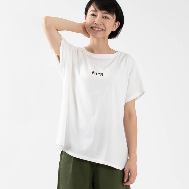 "BLUE LAKE MARKET ロゴTシャツ""eira"""