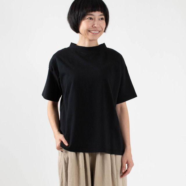 FIRST モックネックワイドTシャツ