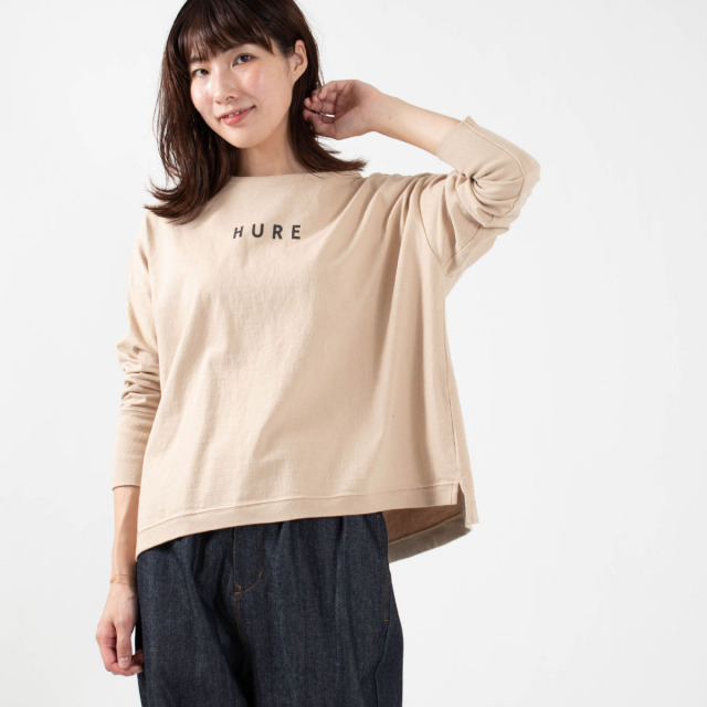 "BLUE LAKE MARKET ロゴTシャツ""HURE"""