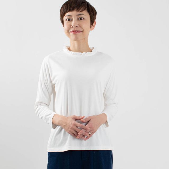 FIRST 衿フリルカットソー