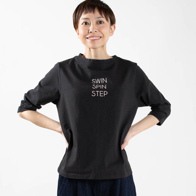 "PACIFIC PARK STORE 七分袖ロゴプルオーバー""SWIN SPIN STEP"""