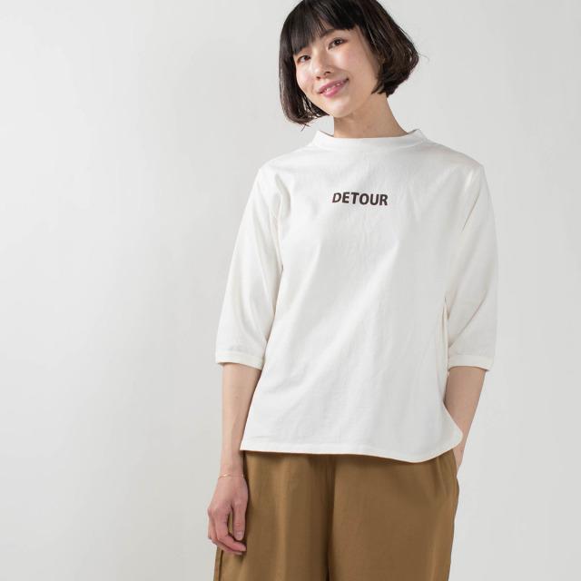 """PACIFIC PARK STORE 七分袖ボトルネックロゴプルオーバー""""DETOUR"""""""