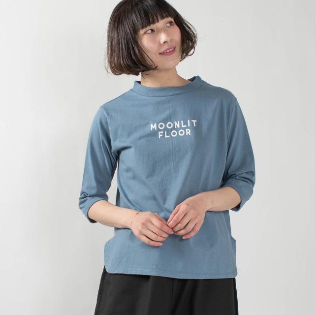 "PACIFIC PARK STORE 七分袖ボトルネックロゴプルオーバー""MOONLIT"""