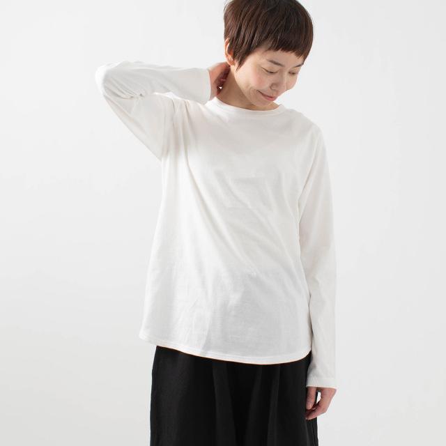 FIRST 裾ラウンドロングTシャツ