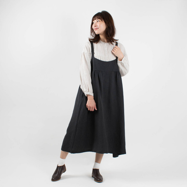 YARRA ツイルジャンパースカート