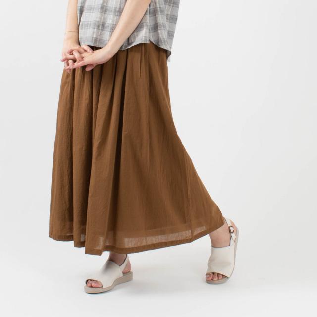 YARRA KHADIコットンロングスカート