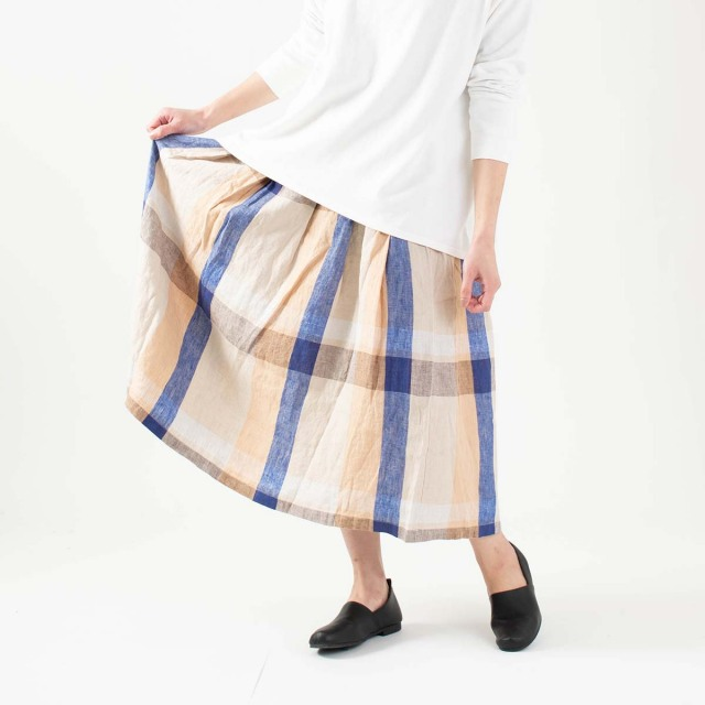 Bliss bunch タックフレアースカート