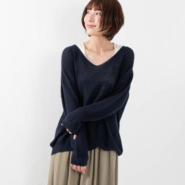 ichi アゼ編みプルオーバー
