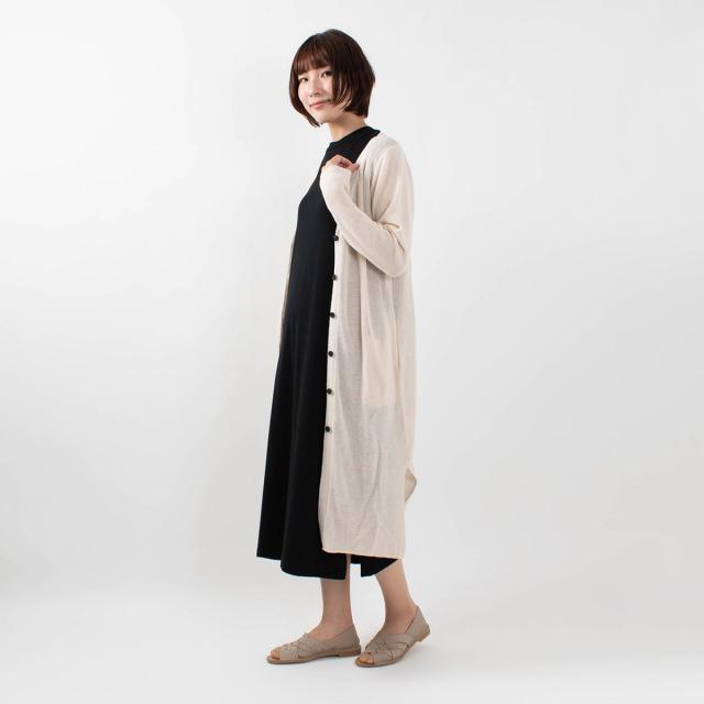 ichi アゼ編みロングカーディガン