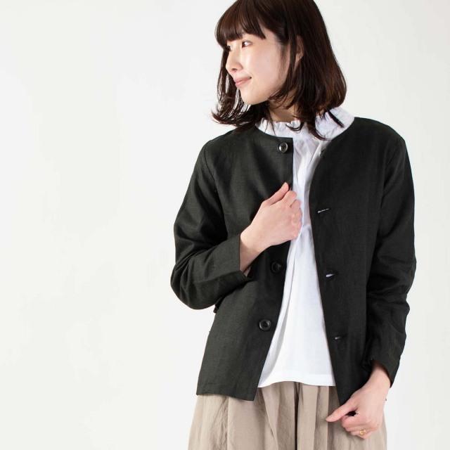 ichi クルーネックジャケット