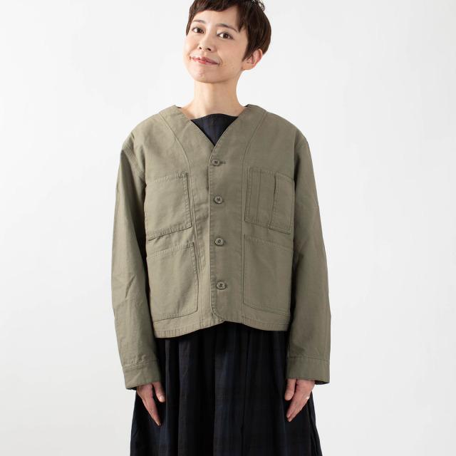 ichi ノーカラーボアライナーショートジャケット
