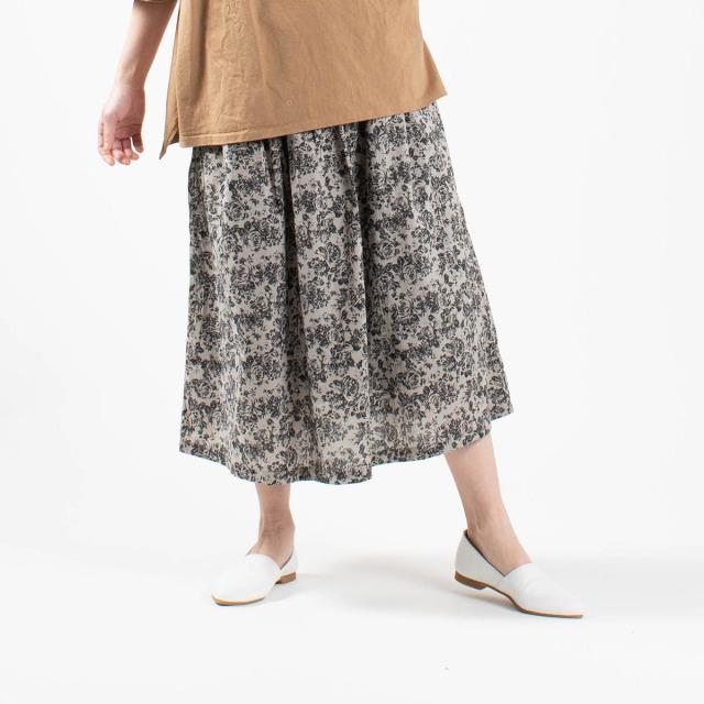 ichi 花柄スカート