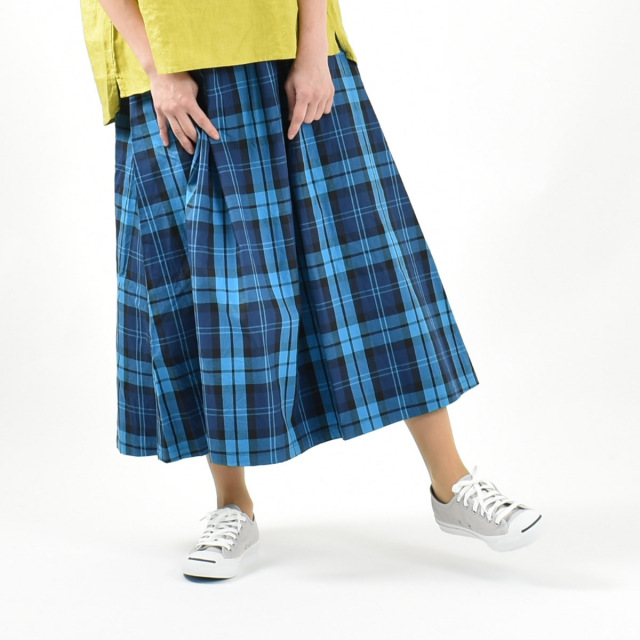 ichi チェック柄スカート