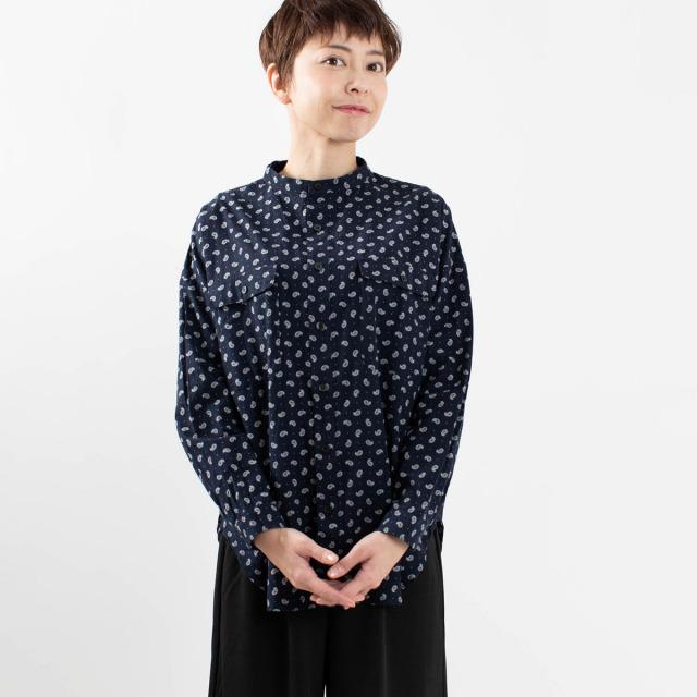 ichi ペイズリープリントシャツ