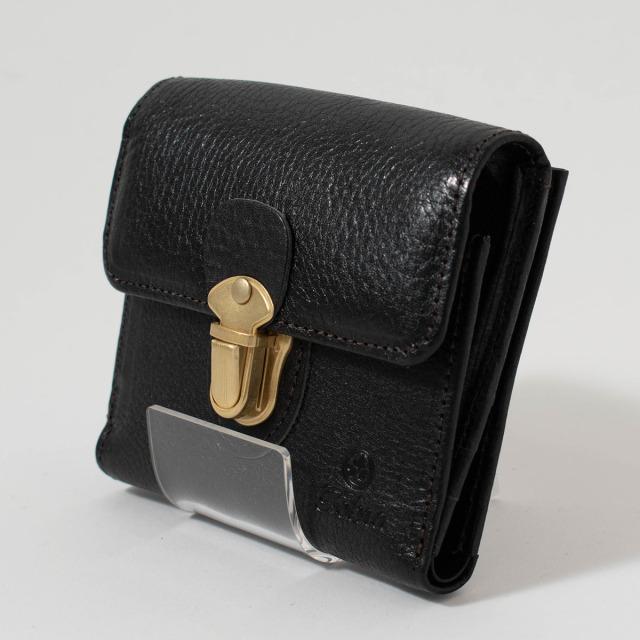 folna ヌメオイルシュリンク 差し込み金具付き二つ折り財布