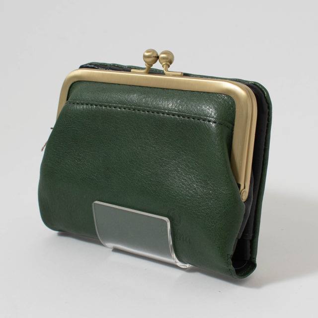 folna ヌメオイルシュリンク がま口二つ折り財布
