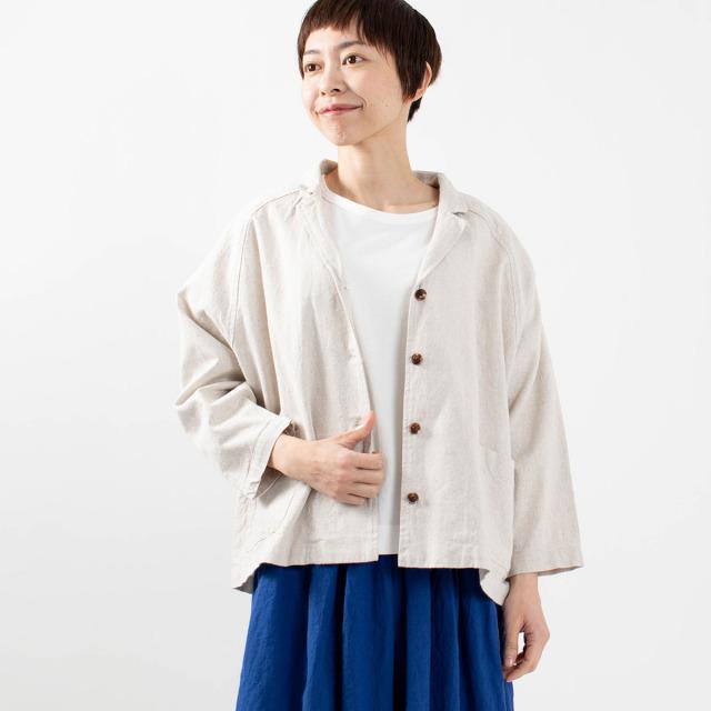 SUN VALLEY 綿麻平織ワイドジャケット