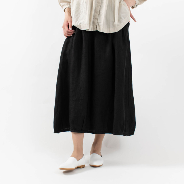 tukuroi by SUN VALLEY リネン綾織スカート