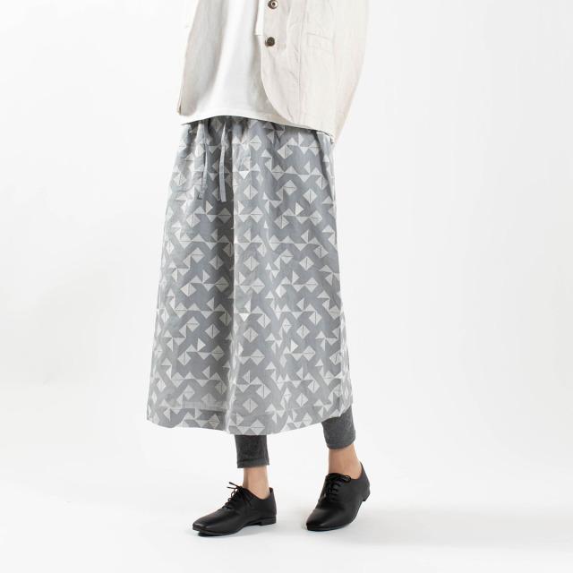 bul bul 刺繍ギャザースカート