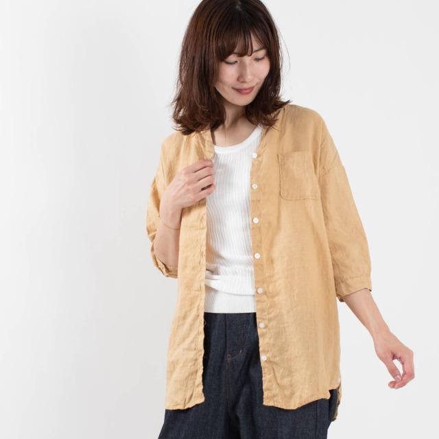 SUN VALLEY フレンチリネン2WAYシャツ