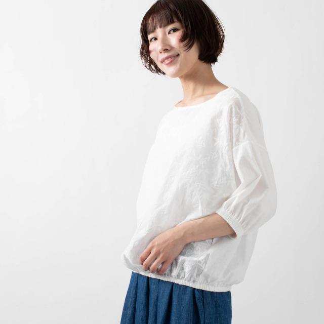 CUORE STORE 異素材ドッキング裾ゴムプルオーバー