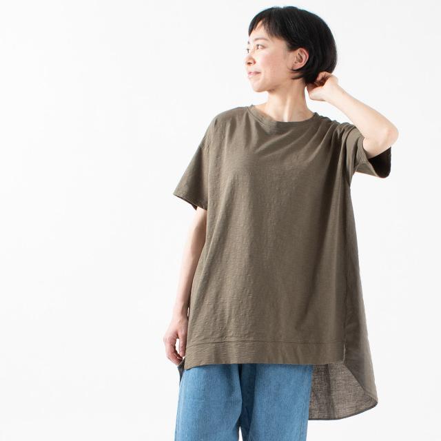 nuance of F 切替半袖チュニック