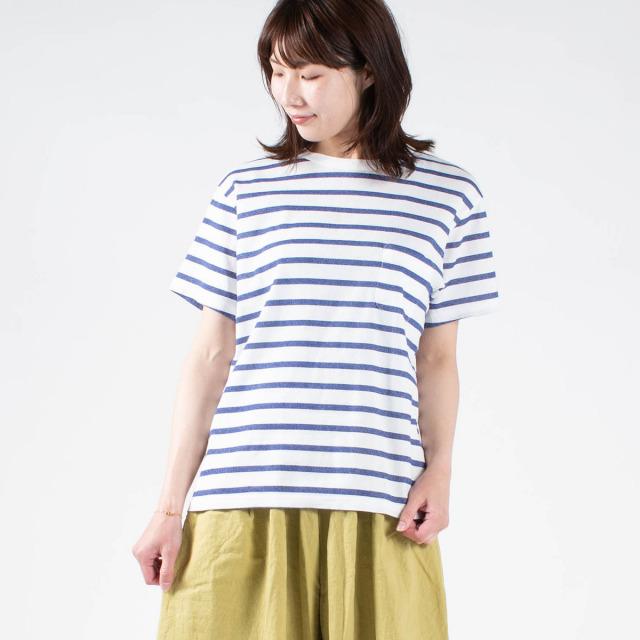 BIWACOTTON ボーダー半袖Tシャツ