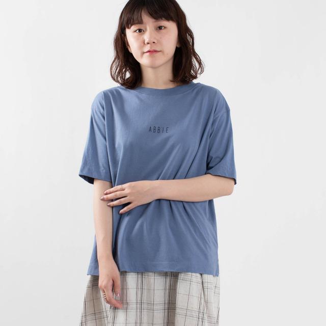 "BLUE LAKE MARKET ロゴTシャツ""ABBIE"""