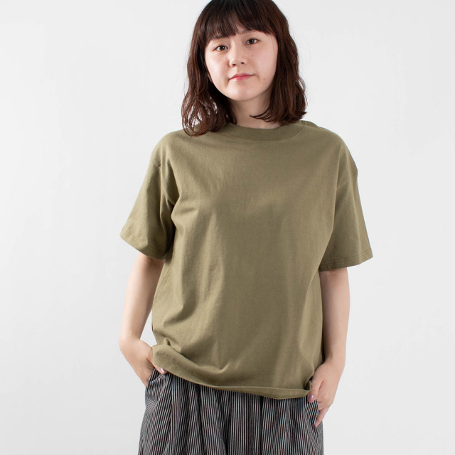 BLUE LAKE MARKET 天竺編み半袖Tシャツ
