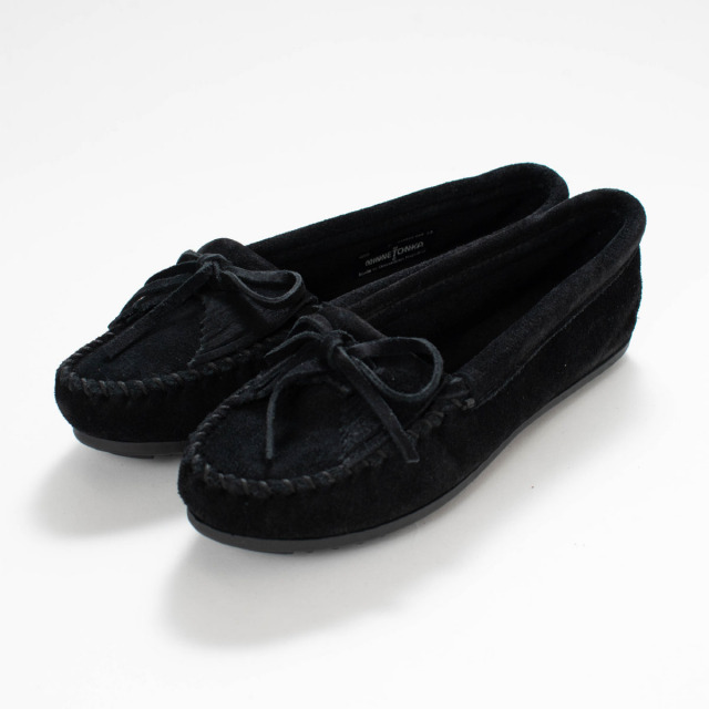 MINNETONKA KILTY SUEDE MOC BLACK