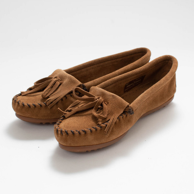 MINNETONKA KILTY SUEDE MOC DUSTY BROWN