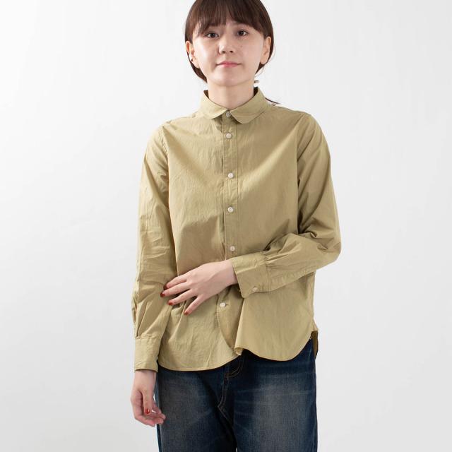 SO ラウンドヘム丸衿長袖シャツ