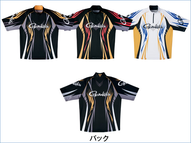 ★2018春夏新製品★がまかつ 2WAYプリントジップシャツ(半袖) GM-3504★