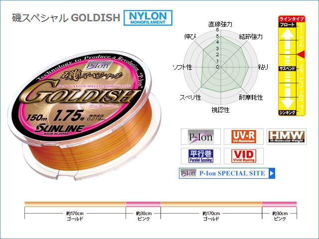 ★2015 NEW★サンライン  磯スペシャル GOLDISH