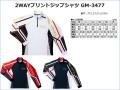 ★がまかつ 2WAYプリントジップシャツ GM-3477★
