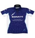 ★新色ジャパンブルー★マルキユー ジップアップシャツ02 (半袖)★