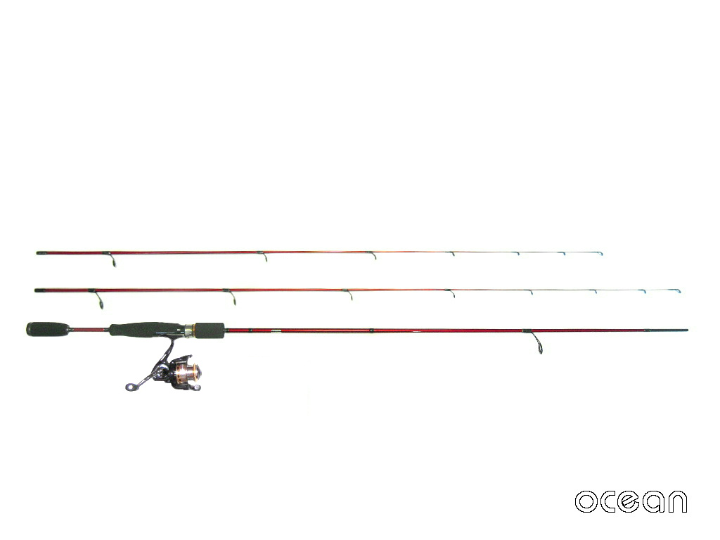 初心者、アジング、メバリング ライトゲーム ロッド ocean  Rock Master TWIN 7'0/7'6&リールセット (750)