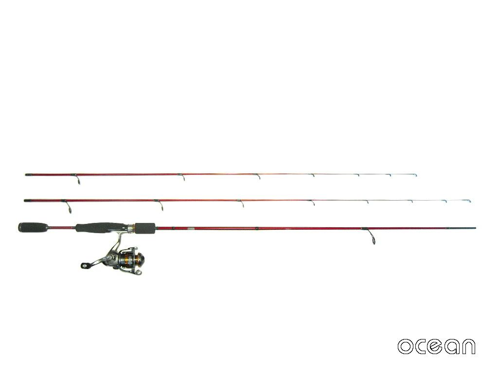 初心者、アジング、メバリング ライトゲーム ロッド ocean  Rock Master TWIN 7'0/7'6&リールセット (S1A10)