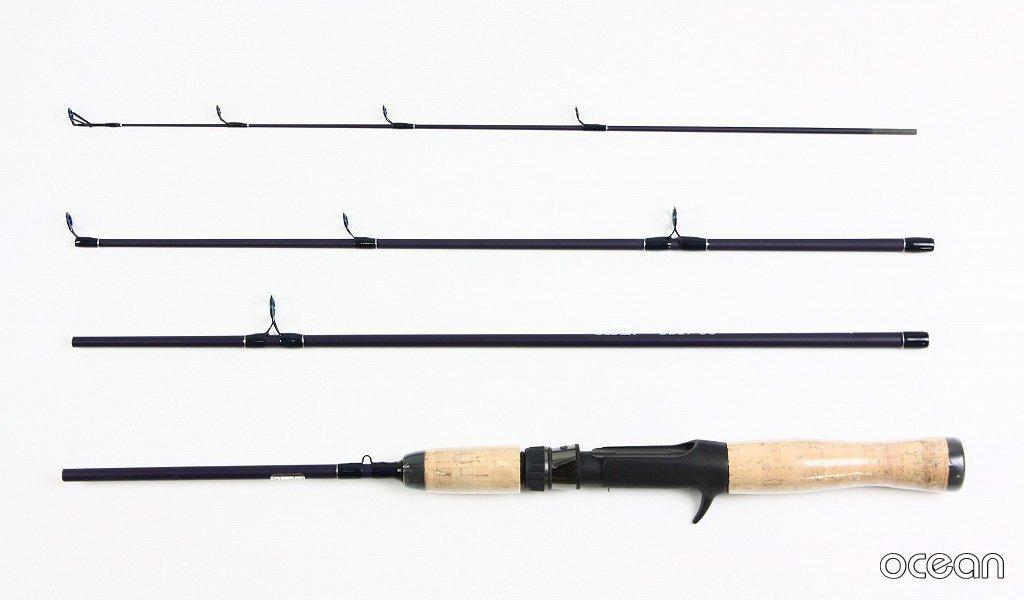 バス釣り、ルアー、コンパクト 4ピース ベイトキャスティング ルアーロッド ocean DD21 5'6B (アウトレット)