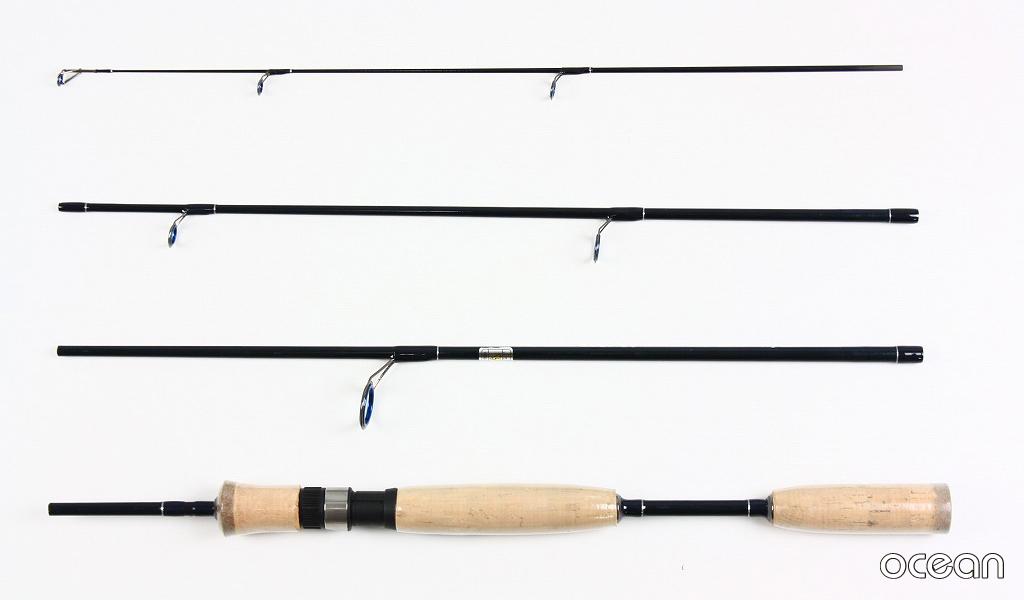 バス釣り、ルアー、コンパクト 4ピース カーボン スピニングルアーロッド ocean DD21 5'6S (アウトレット)