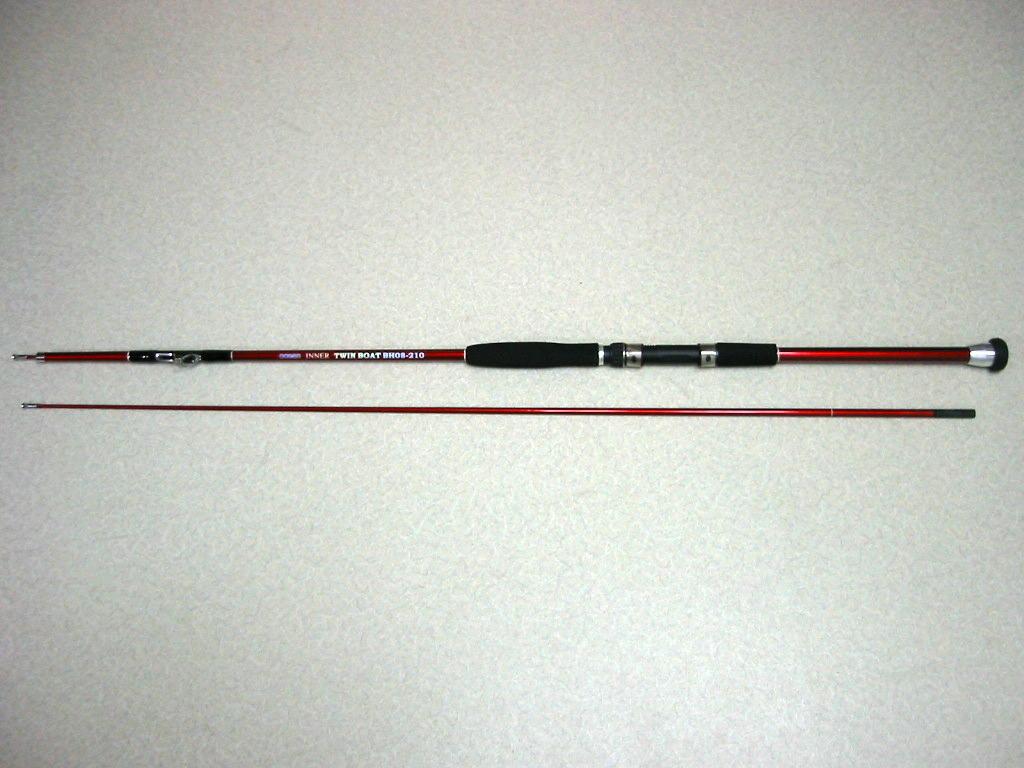 振出し 中通し船竿 INNER TWIN BOAT 210(30号、50号)